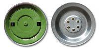 Krone 6057 2 Ts Transistor-Sprechkapsel Grün, Generalüberholt