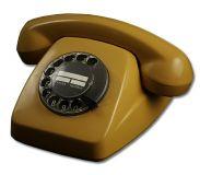 Post FeTAp 611-2 Wählscheibentelefon Ockergelb, Generalüberholt